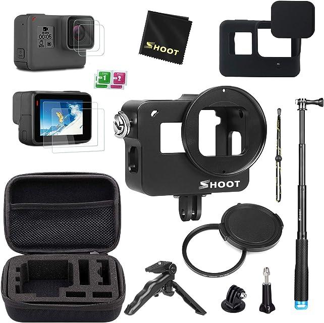 D&F Kit de Accesorios Estuche Protector para GoPro Hero 7 Black (Solo Negro)/HD (2018)/Hero 6/Hero 5 con Estuche autofoto Mini trípode y más