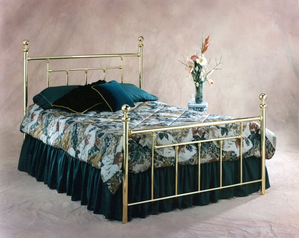 Hillsdale Fashion Furniture Chelsea Bed Classic security Set Full Brass