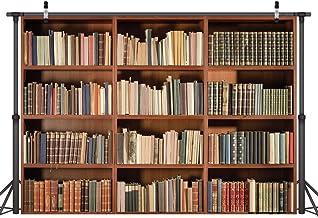 LYWYGG 7X5FT Bookshelf Backdrop Vintage Bookcase Magic Books Grunge Ancient Library Vinyl Photography Background Photo Studio Props CP-49