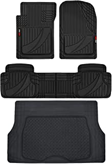 Motor Trend FlexTough Advanced Performance Liners – 4pc HD Rubber Floor Mats &..