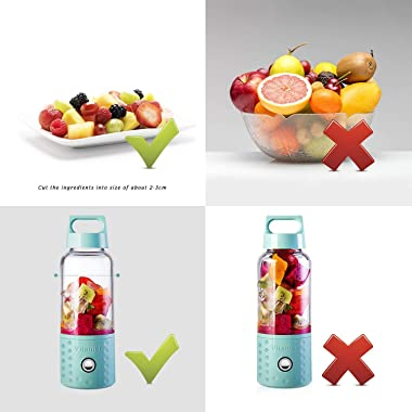 Portable Juice Blenders for Smoothie USB Rechargeable Mini Juicer Machines Extractor Household Fruit Mixer Small Cup 500ml Pe