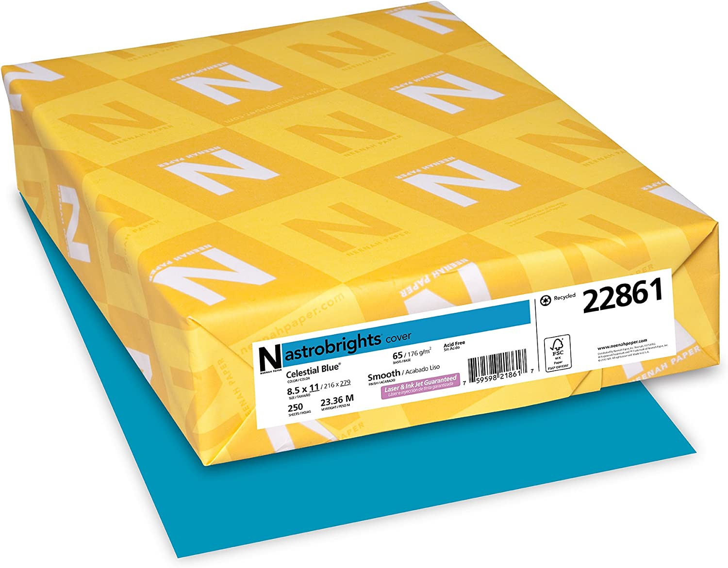 """Neenah Astrobrights Colored Cardstock 8.5"""" Max 68% OFF 25% OFF x 176 GSM 65 lb 11"""""""
