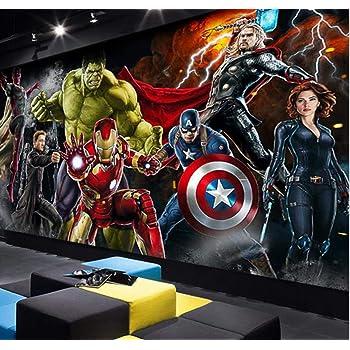 Chambre /à coucher Chambre /à coucher Papier peint Salle de s/éjour moderne Salon TV Fond Bar Mural Avenger League Personnage Anime Toute Taille,260x180cm