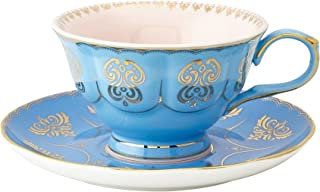 Pretty Little Teacups Cup and Saucer Set Blue and Pink in Gift Box