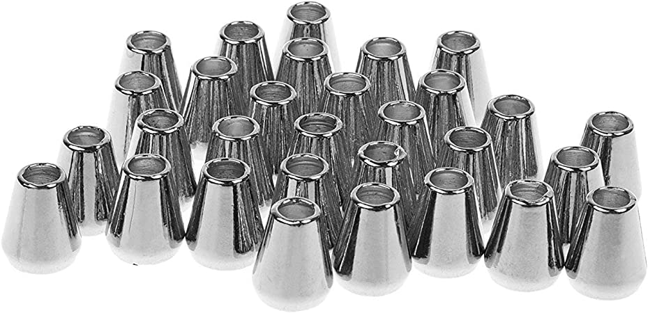 Colaxi 60pcs Conical Bell Shape Cord Lock Backpack Tent Drawstring Cord End Stopper