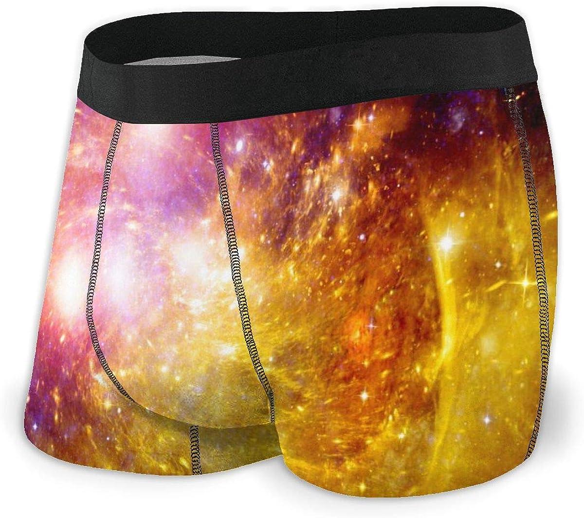 Randolph Wordsworth Mens Boxer Briefs Special Planet and Galaxy Breathable Underwear