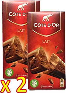 Cote d'Or Belgian Milk Chocolate Bar XL 7.05 ounce (200 gram) - Pack 2 x 200g