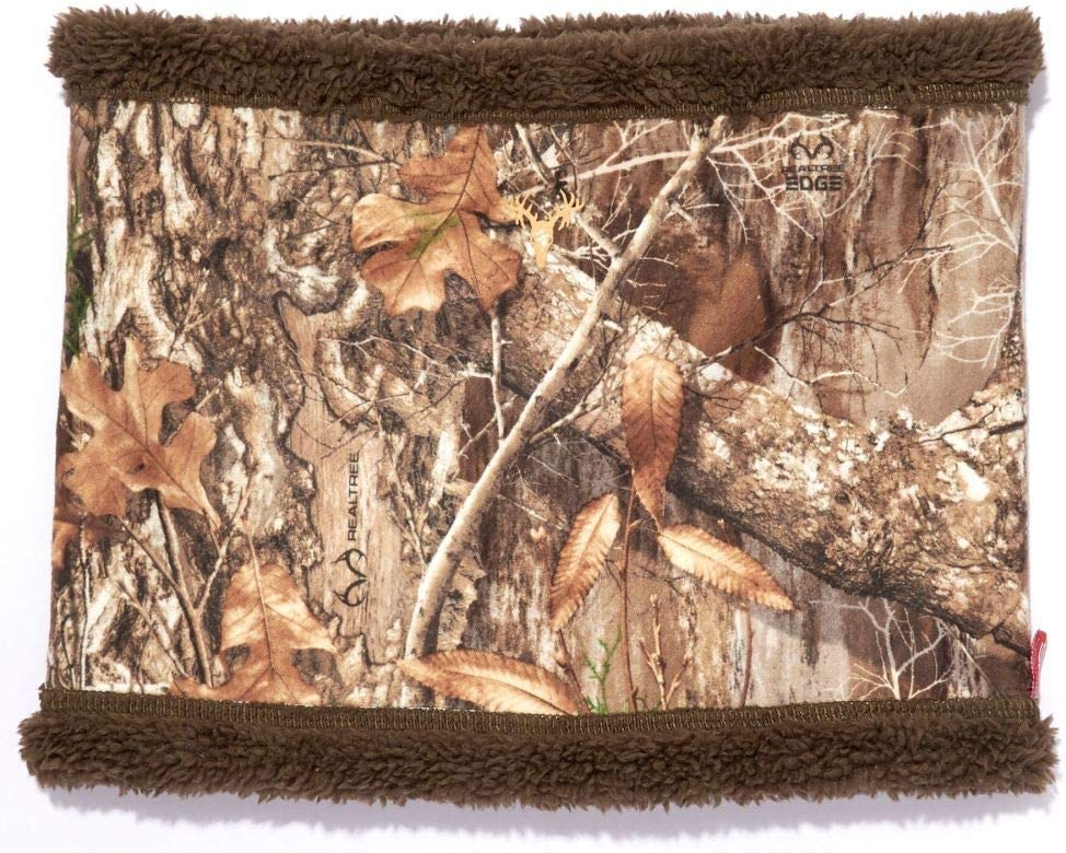 HOT SHOT Men's Camo Volcano Stormproof Neck Gaiter – Realtree Edge Outdoor Hunting Camouflage