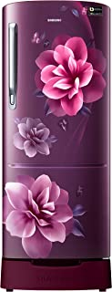 Samsung 192 L 3 Star Inverter Direct Cool Single Door Refrigerator (RR20A182YCR/HL, Camellia Purple, Base stand drawer)