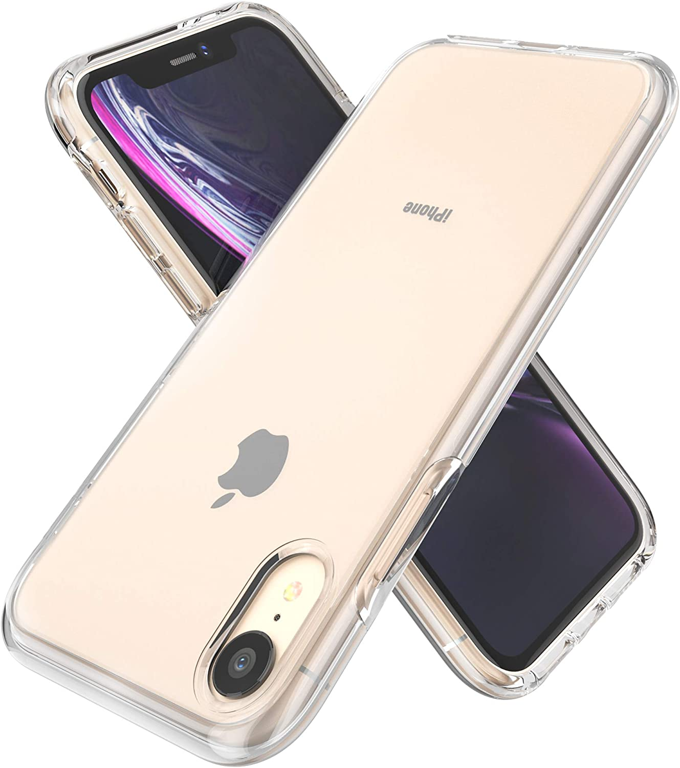 GPFILE iPhone XR Case Clear Thin Slim Protective Anti-Scratch Shockproof Case for iPhone XR 6.1 Inch (2018) - Clear