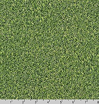 Cotton Green Grass Field Cotton Fabric Print by The Yard  SRK-14697-47-grass