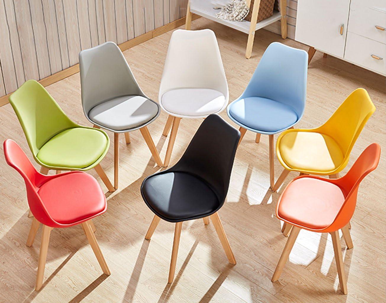 HXF- Chaise de Bureau Créativité Ménage Chaise d'ordinateur Moderne Simple Personnalité Art Tabouret Dossier À Repas Chaise Durable (Color : C) D