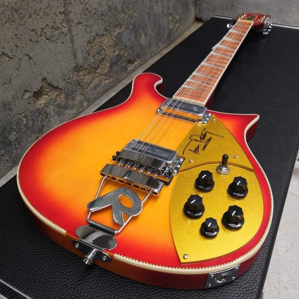 LYNLYN Guitarras 12 Cuerdas Eléctrica Guitarra De Madera Tablero De Madera Tremolo Puente Puente Cuerpo Guitarra Clásica Guitarra eléctrica (Color : Guitar, Size : 39 Inches)