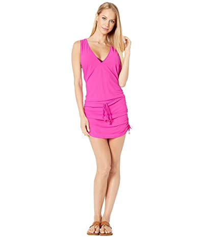 Luli Fama Cosita Buena T-Back Mini Dress Cover-Up (Poppin Pink) Women