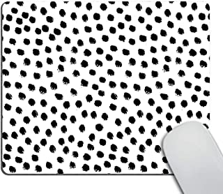 Smooffly Polka Dots Gaming Mouse pad Cuscom,Brush Strokes Dots Personality Desings Rectangle Non-Slip Rubber Mousepad 9.5 X 7.9 Inch (240mmX200mmX3mm)