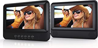 LEDVANCE Sylvania SDVD7751 7in Dual Screen Portable DVD Player - Black (Renewed)