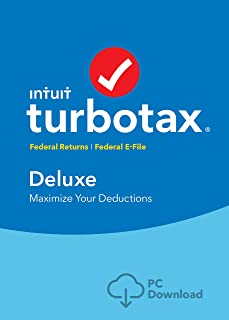 [Old Version] TurboTax Deluxe 2018 Tax Software [PC Download] [Amazon Exclusive]