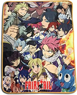 GE Animation GE-57824 Fairy Tail Big Group Sublimation Throw Blanket
