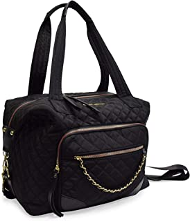 adrienne vittadini quilted duffle bag