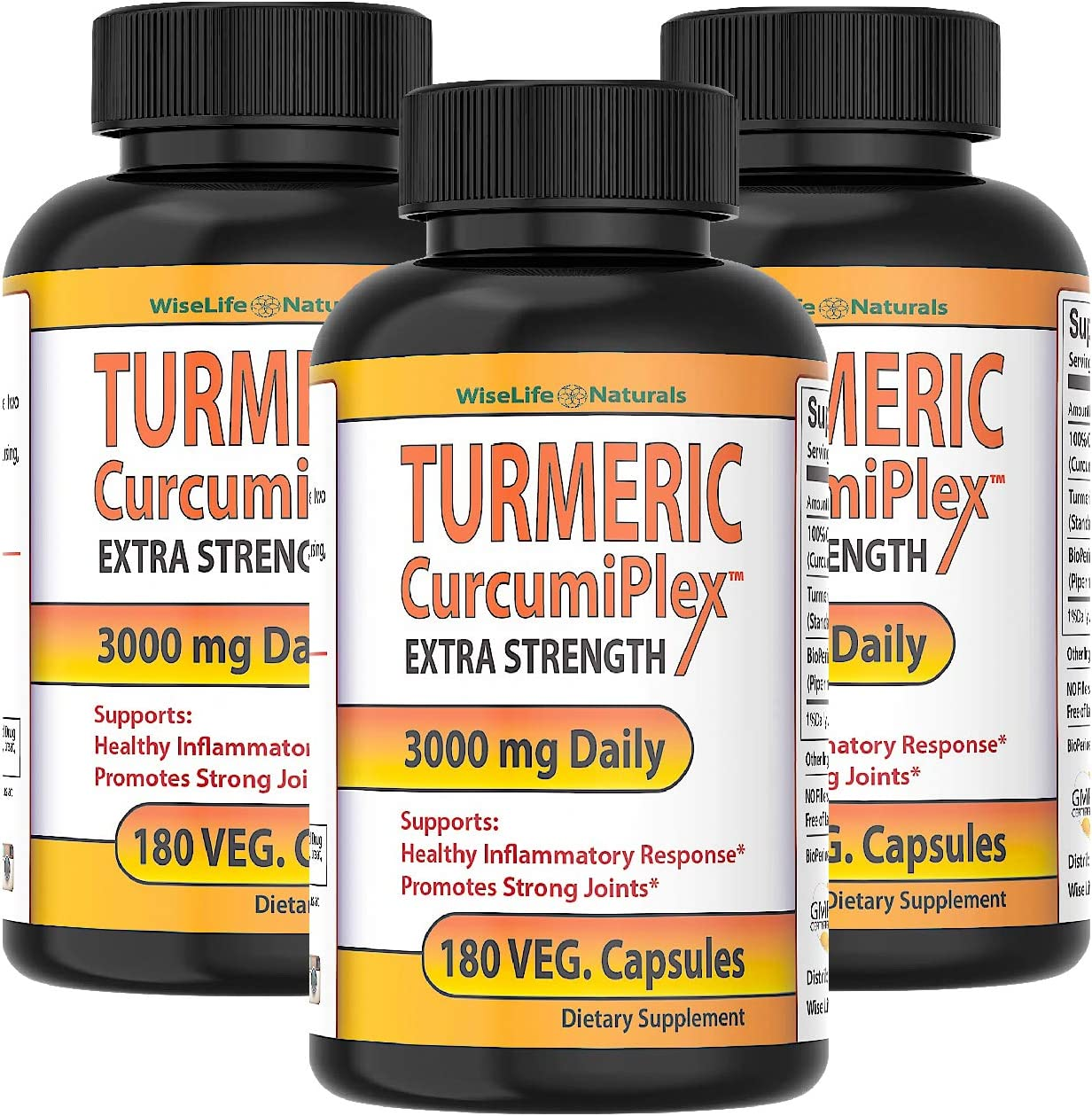 CurcumiPlex Boston Outstanding Mall 3 Pack Highest Potency wit Turmeric Made Supplements