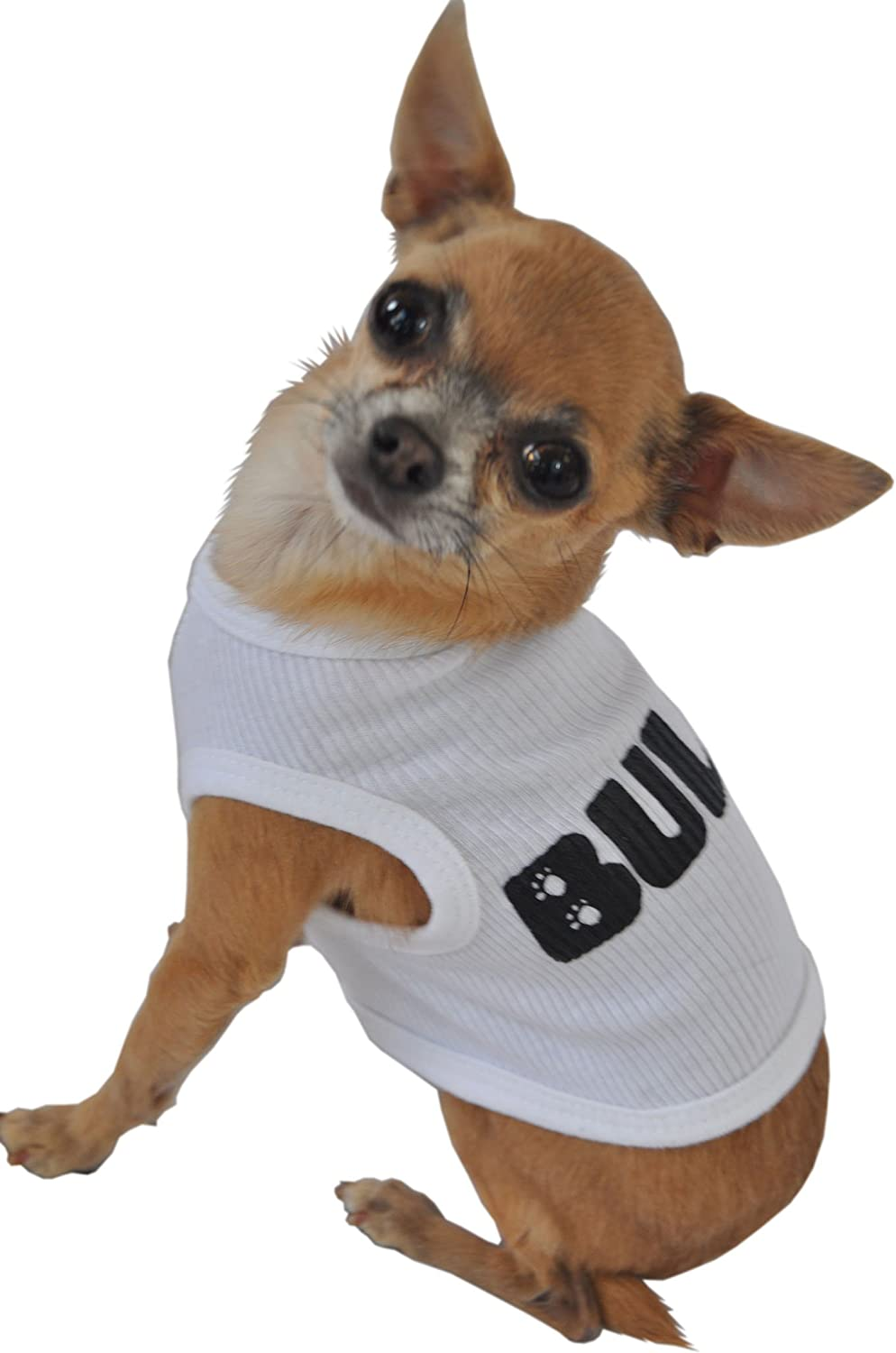 Ruff Ruff and Meow ExtraLarge Dog Tank Top, Bully, White