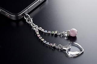 薔薇色の石 恋の力を運ぶ ピンクインカローズ スマホピアス