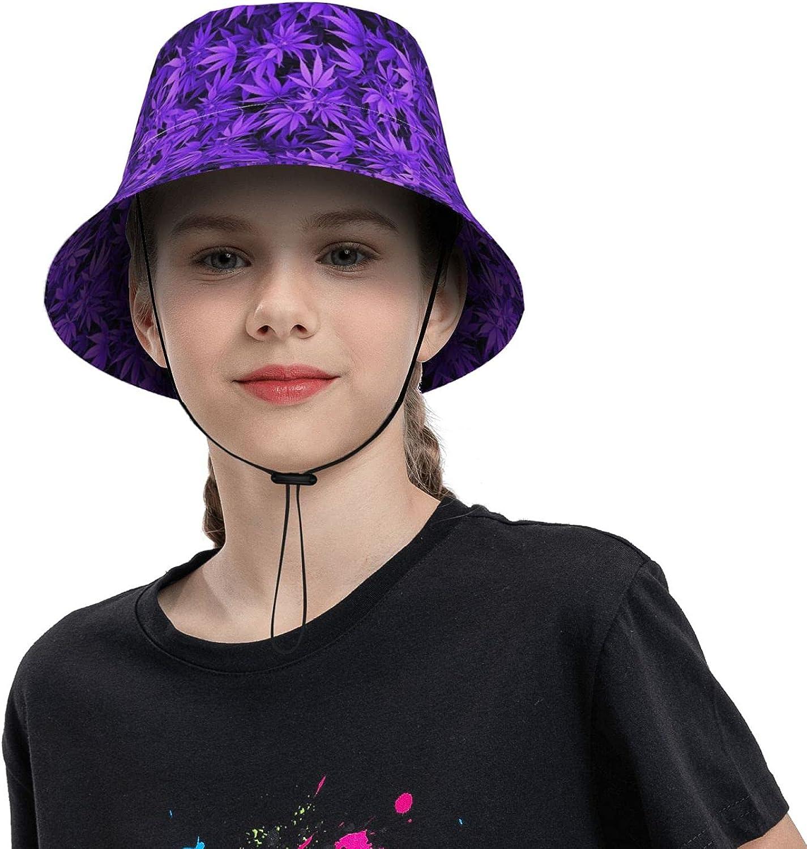 Purple Plant High quality Leaves Kids Sun Hat Boy UPF Girl Protection 50+ Cheap bargain