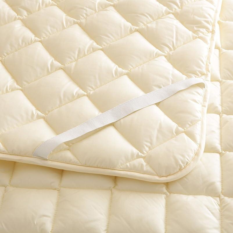オープニング呼吸ベルトベッドパッド ウォッシャブルウール SD アイボリー セミダブル