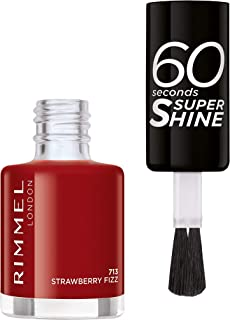 Rimmel London, 60 Seconds Super Shine Nail Polish 713 Strawberry Fizz, 8 ml - 0.25 fl oz