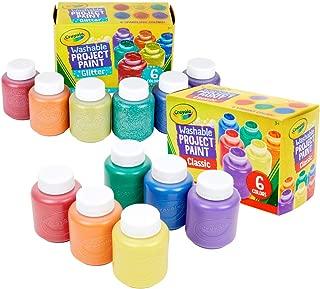Crayola Washable Kids Paint, 12Count, Amazon Exclusive, Stocking Stuffers, Gift