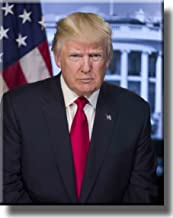 Donald Trump Portrait on Stretched Canvas Wall Art Décor, Ready to Hang!