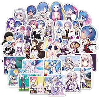 50Pcs RE: Zero - Starting Life in Another World Stickers Car Sticker Motorcycle Bicycle Luggage Decal Graffiti Patches Skateboard Laptop Stickers (RE: Zero - Starting Life in Another World)