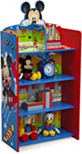 Delta Children Wooden Playhouse 4-Shelf Bookcase for Kids, Mickey Mouse