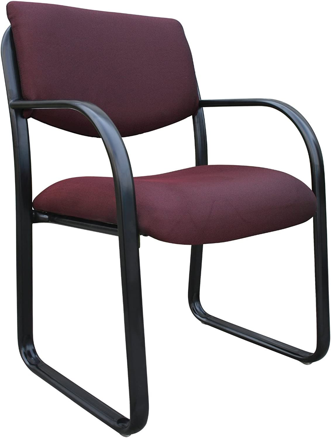 Boss Office Products B9521-BY Fabric Guest Chair in Burgundy