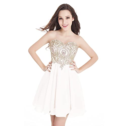 White An Gold Prom Dresses Amazoncom