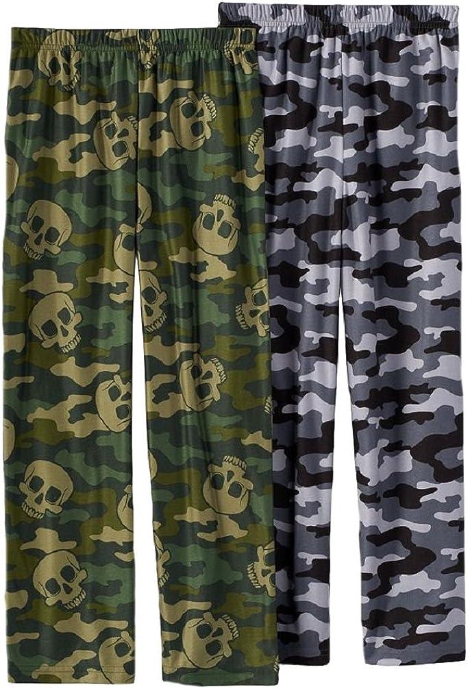 Up-Late Little Boys' Skull/Camo Lounge Pants 2 Pair