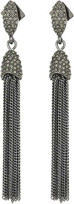 Vince Camuto Chain Tassel Fringe Earrings