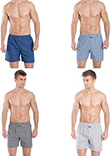 Jockey Men's Cotton Boxers (Pack of 4) Color May Vary