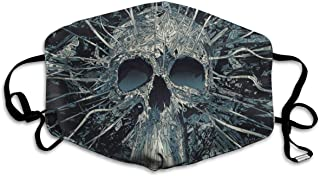 YongColer Anti-Allergies Flu Dust Face Mask, Earloop Half Face Mask for Women Men, Camping Cycling Mouth-Muffle with Adjustable Elastic Strap - Cool Hippy Sugar Skulls Black, Reusable