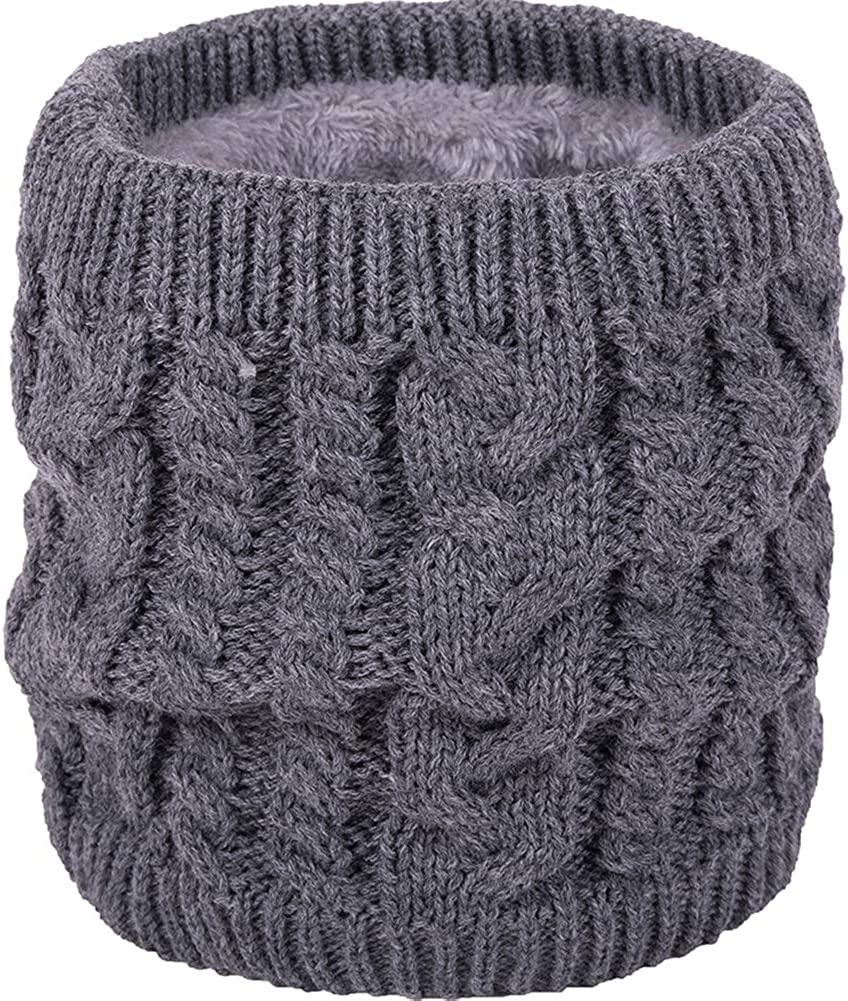 Womens Men Thick Winter Knitted Warm Circle Loop Infinity Scarf