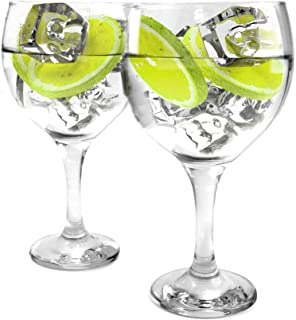 Ginsanity Set of 2 Gin Balloon Glasses 22oz (645ml) Cocktail/Celebration / Special Occasion/G&T