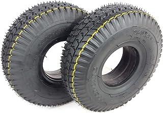 Gris Fauteuil Roulant /électrique de qualit/é 2 tuyaux de Valve dangle Pneu Puissant profil/é de Blocage Stable 4 pneus Rolko Lot de 2 pneus de Fauteuil Roulant 4.00-5 Fauteuil Roulant pour Scooter