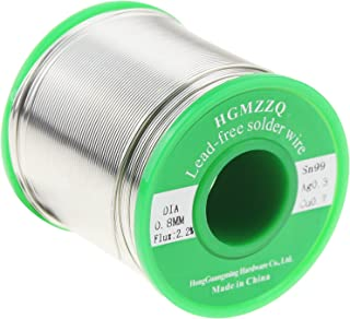 HGMZZQ Lead Free Solder Wire with Rosin Core for Electrical Soldering Sn99 Ag0.3 Cu0