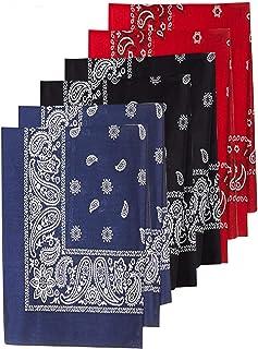 12pcs Abirou Bandane Disegno Paisley Multicolori 100/% Cotone Sciarpa Fazzoletti da Taschino per Cappelli,Bandana per Capelli Collo Testa Sciarpa 3pcs 6pcs