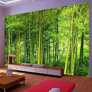 Afashiony Latest Bamboo Wall Paper Living Room Tv Sofa Backdrop Wall Mural 3D Nature Landscape Home Decor 3D Wall Mural Wallpaper-400Cmx280Cm