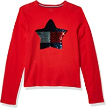 Tommy Hilfiger Girls Adaptive Long Sleeve T Shirt with Adjustable Shoulder Closure
