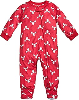 Family PJs Moose Holiday Polyester Footed Pajamas