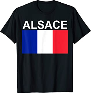 National Flag of France and Region of Alsace T-Shirt