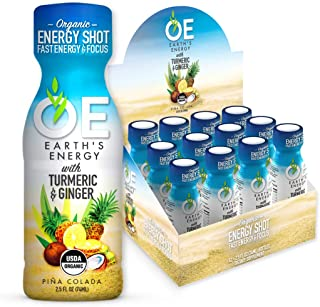 Organic Energy Pina Colada Shot, All Natural Ingredients For Energy With Wellness