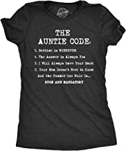 Womens The Auntie Code Tshirt Funny Niece Nephew Family Tee for Ladies